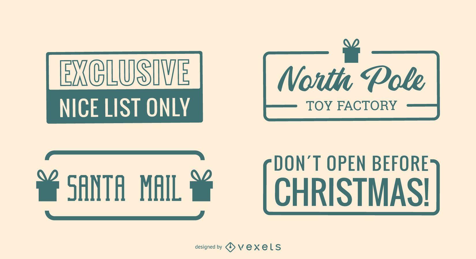Conjunto de cotizaciones postales de Navidad