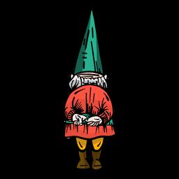 Gnome gorra enana plana