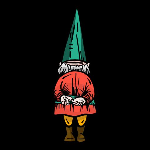 Gnome dwarf cap flat Transparent PNG