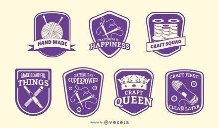 Paquete de insignias de artesanía