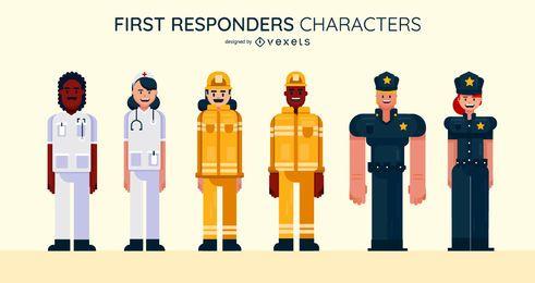 Conjunto de caracteres de socorristas