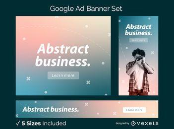 Conjunto de banner de anúncio gradiente