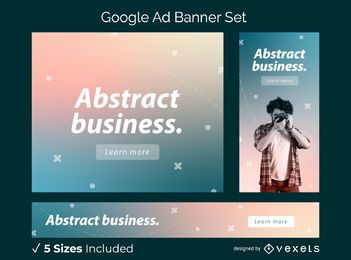 Gradient ad banner set