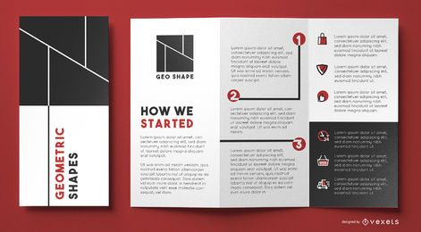 Geo shapes brochure template