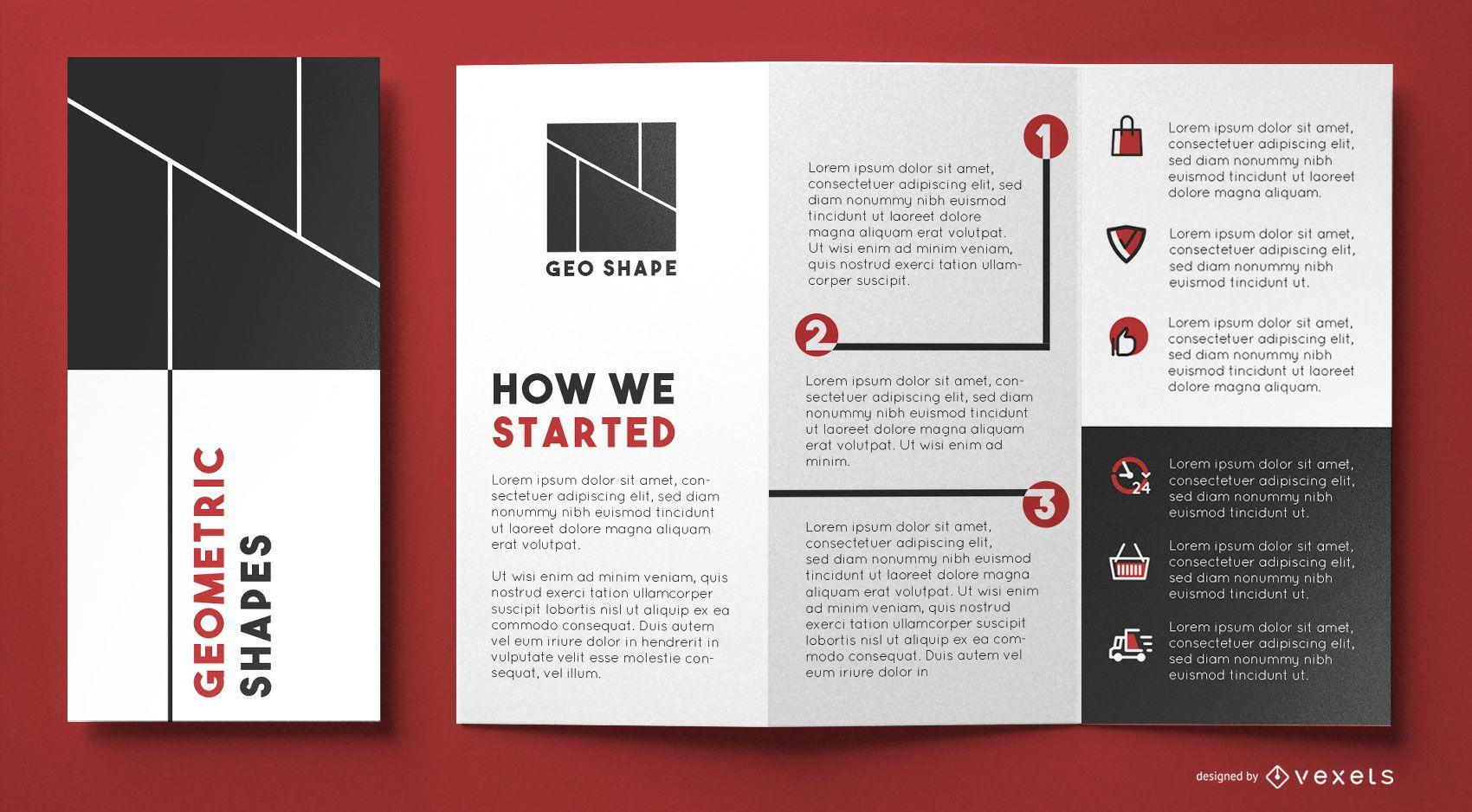 Geo shapes brochure template