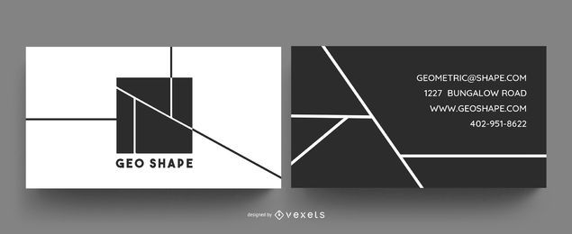 Geo shapes business card