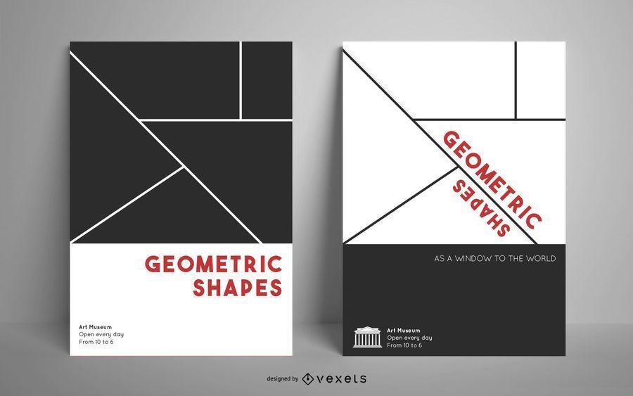 Plantilla de póster de formas geográficas