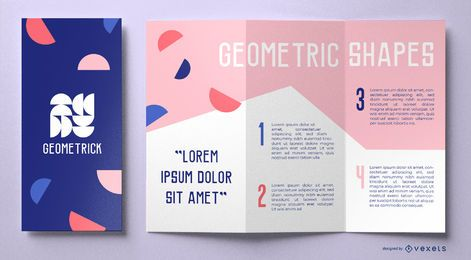 Geometric shapes brochure template