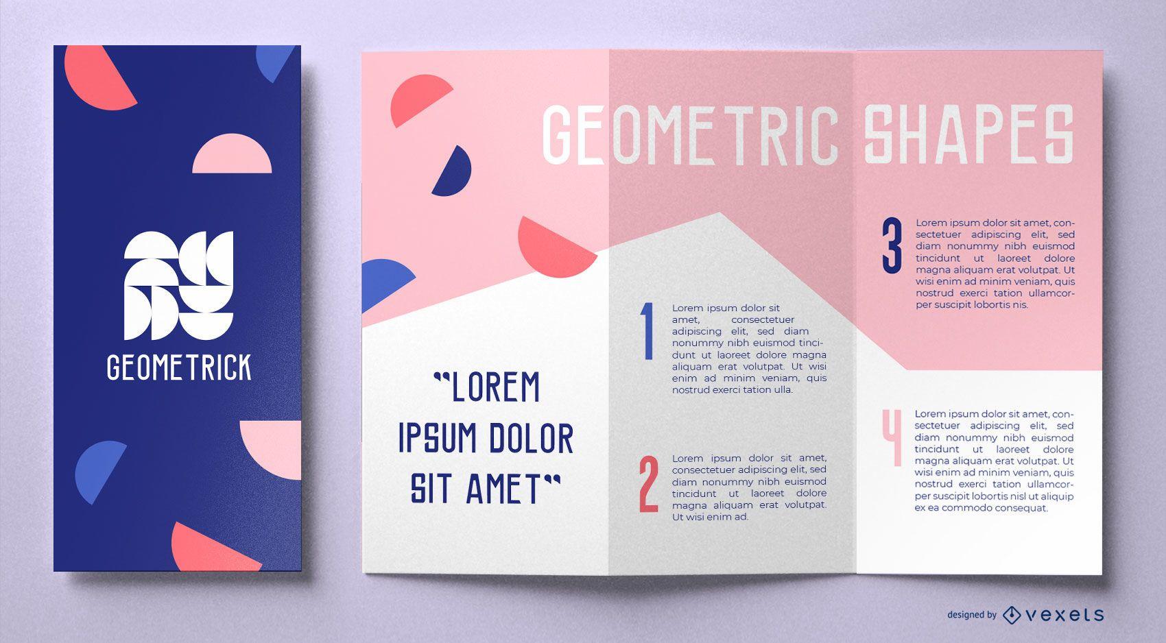 Geometric shapes brochure template