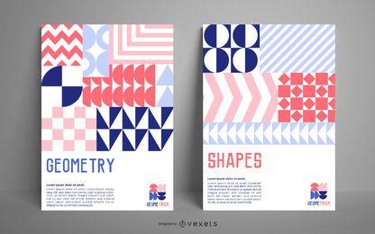 Modelo de cartaz de formas geométricas