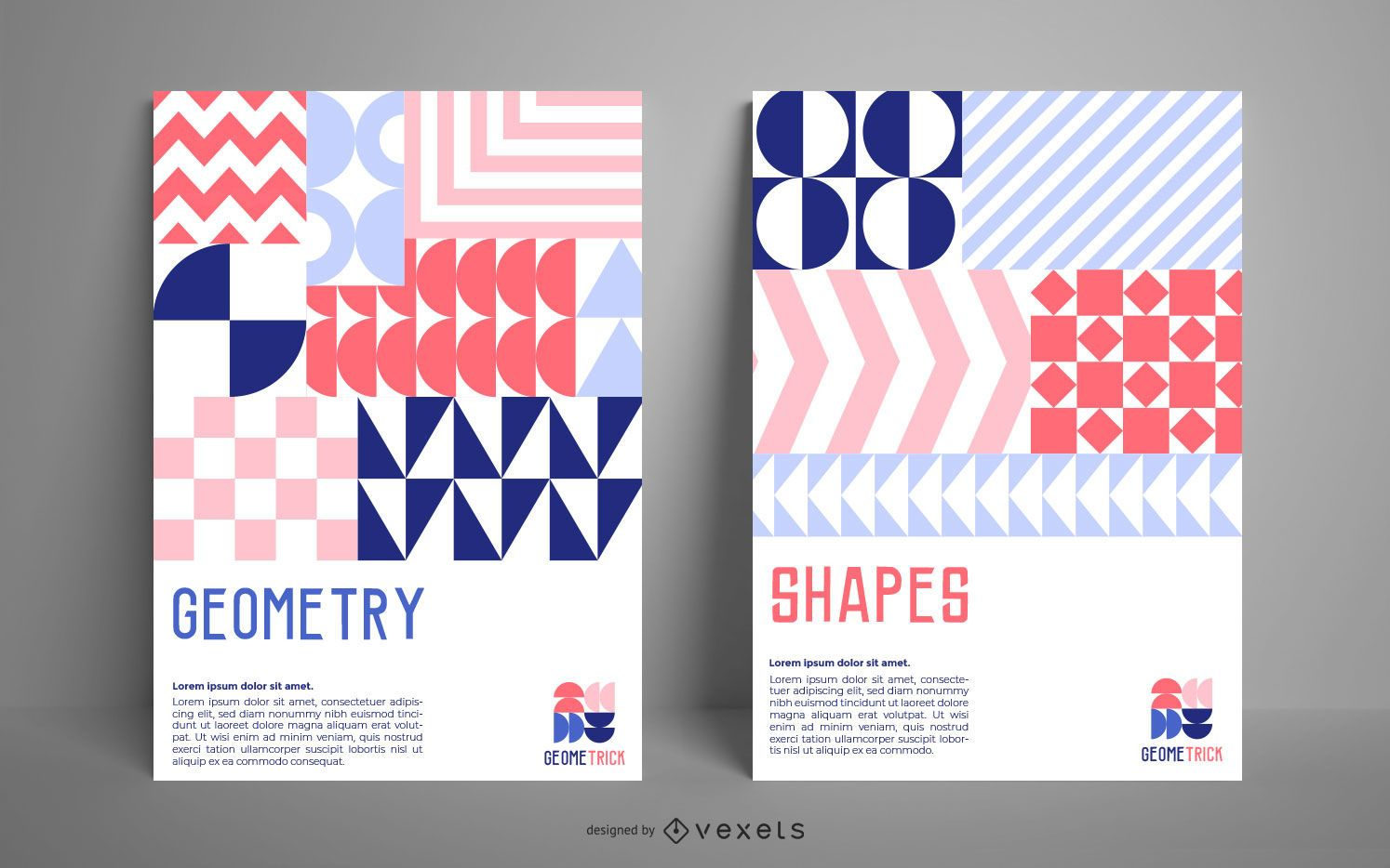 Geometric shapes poster template