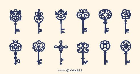 Ornamental keys collection