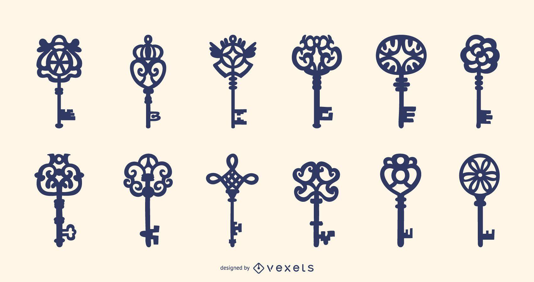 Ornamental keys collection