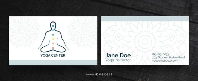 Yoga center business card