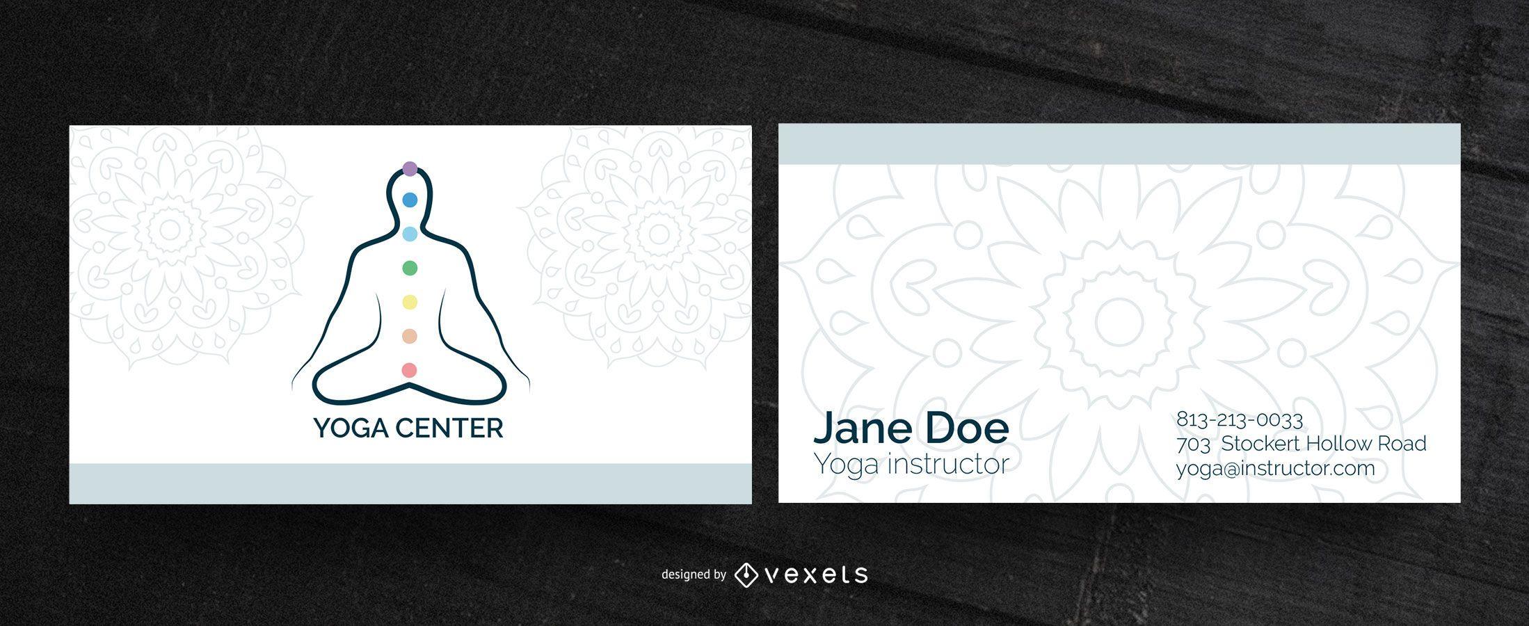 Tarjeta de visita del centro de yoga