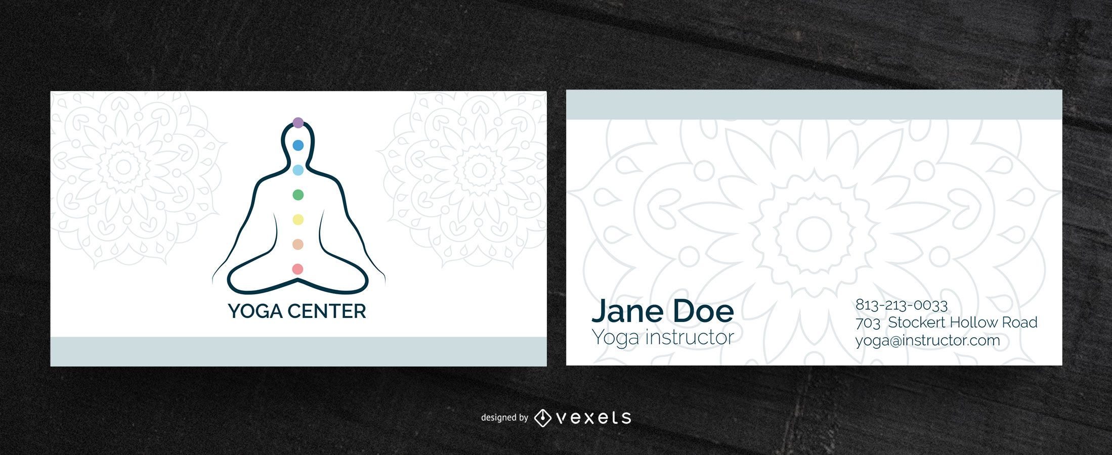 Visitenkarte des Yoga-Zentrums