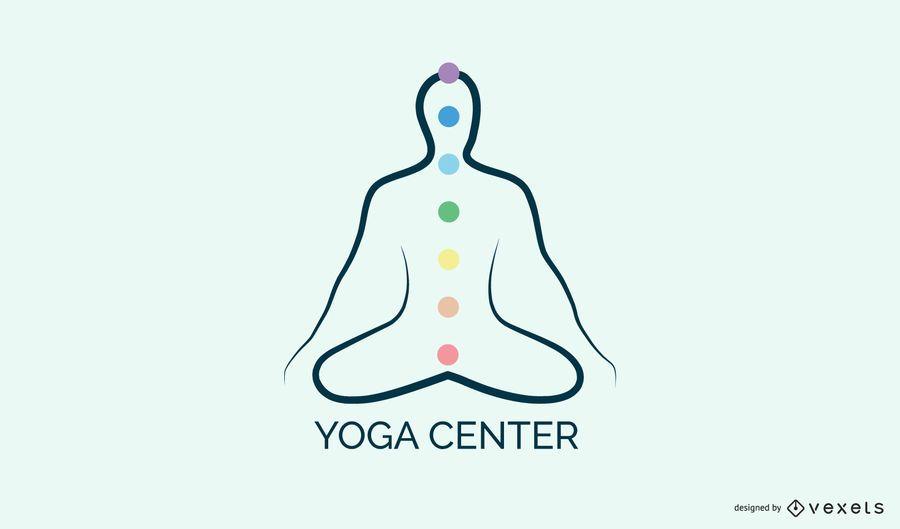Plantilla de logotipo de centro de yoga