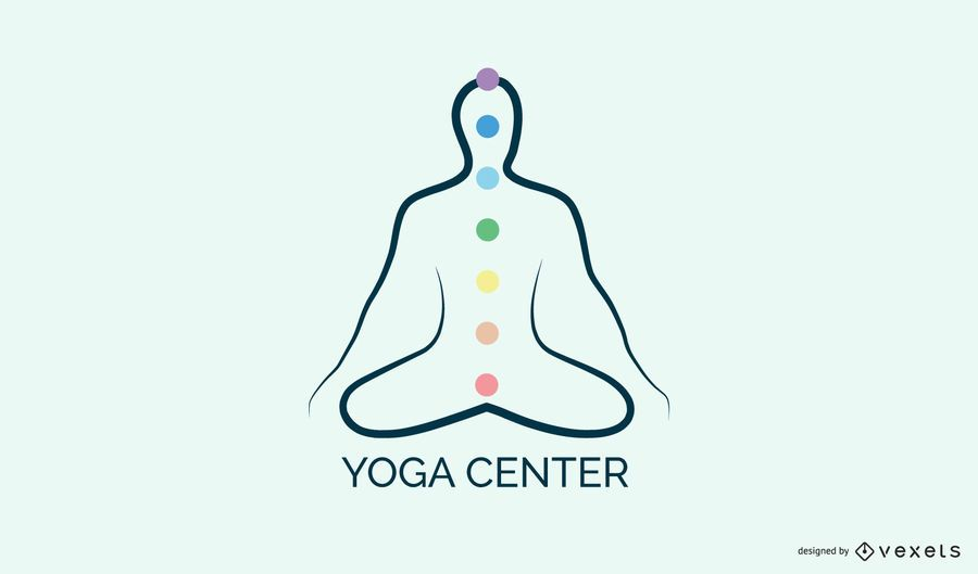 Yoga center logo template