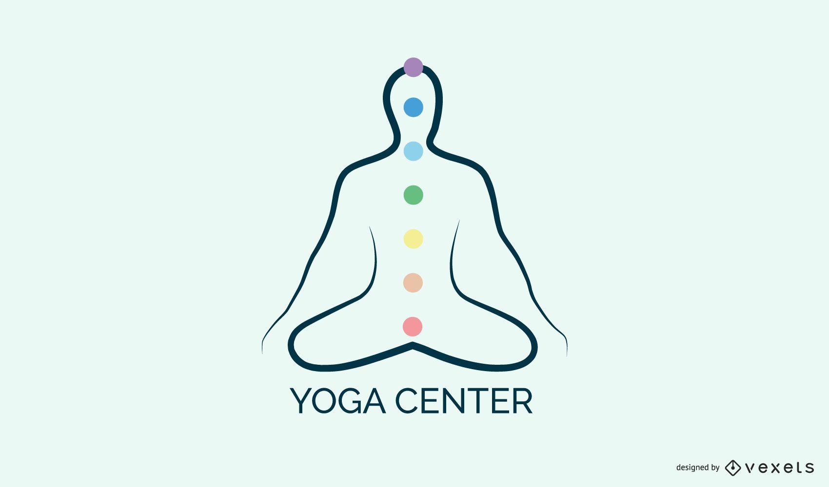 Modelo de logotipo do centro de ioga