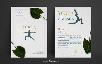 Plantilla de póster de estudio de yoga