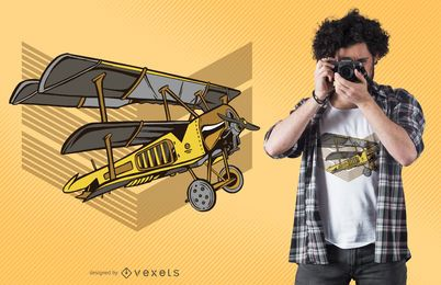 Steampunk plane t-shirt design