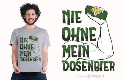 Diseño de camiseta alemana con cita de cerveza