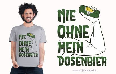 Diseño de camiseta alemana de cita de cerveza