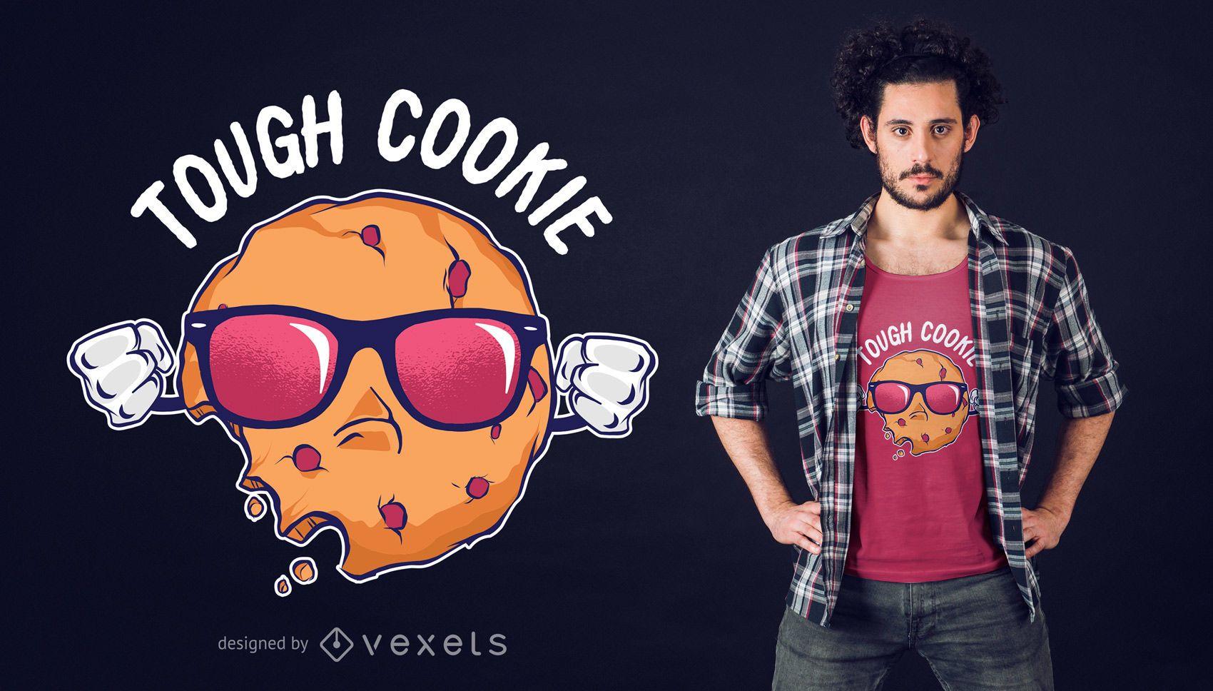 Diseño de camiseta de galleta genial