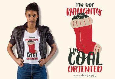 Projeto de t-shirt de natal de carvão