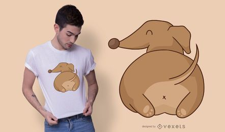 Design de t-shirt de bunda Dachshund