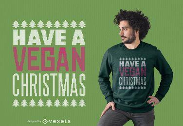 Veganer Weihnachtst-shirt Entwurf