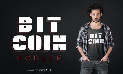 Design de t-shirt de titular de Bitcoin