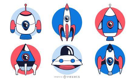 Conjunto de foguete espacial