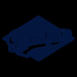 Etiqueta engomada de la insignia del abuelo