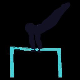 Gimnasta ejercicio hombre barra horizontal silueta