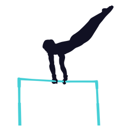 Gymnast exercise man horizontal bar silhouette