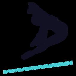 Gimnasta ejercicio mujer barra horizontal silueta