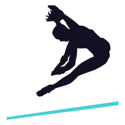 Gymnast exercise woman horizontal bar silhouette