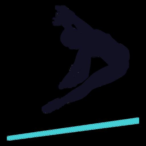 Gimnasta ejercicio mujer barra horizontal silueta Transparent PNG