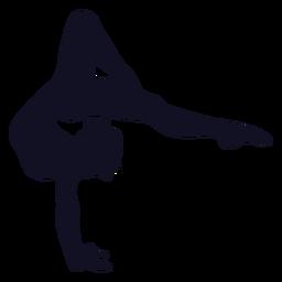 Ginasta exercício silhueta de mulher