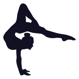Gymnast exercise woman silhouette
