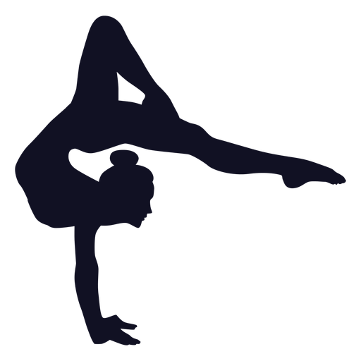 Gymnast exercise woman silhouette Transparent PNG