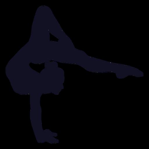 Silueta de mujer gimnasta ejercicio Transparent PNG