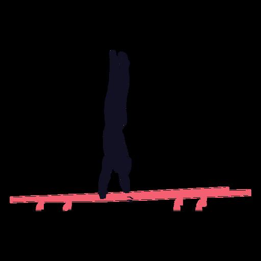 Hombre gimnasta ejercicio silueta barra paralela Transparent PNG