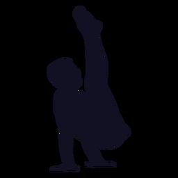 Ginasta homem exercício silhueta