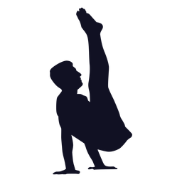 Silueta de ejercicio de hombre gimnasta