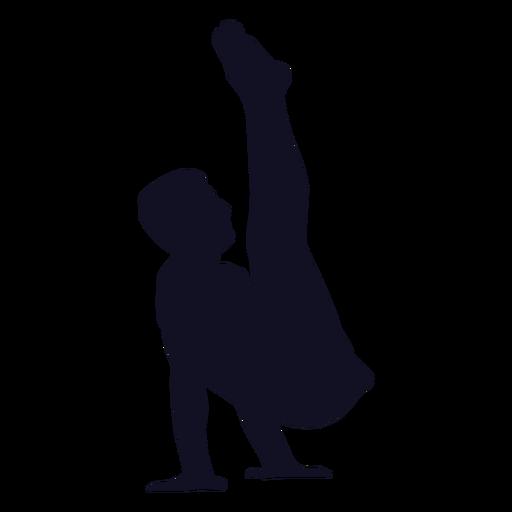 Gymnast man exercise silhouette