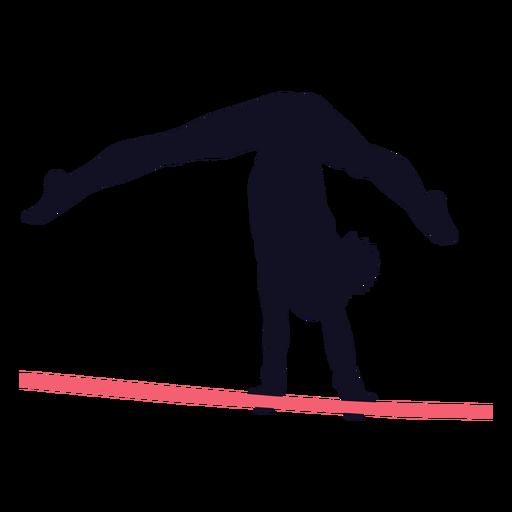 Gimnasta mujer ejercicio barra horizontal silueta Transparent PNG