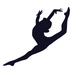 Gymnast woman exercise silhouette