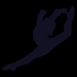 Silueta de ejercicio de mujer gimnasta